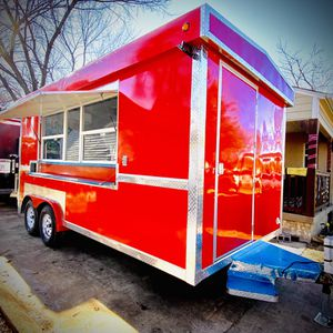 Food Trailer Red 8x16 Ft Available for Sale in Dallas, TX