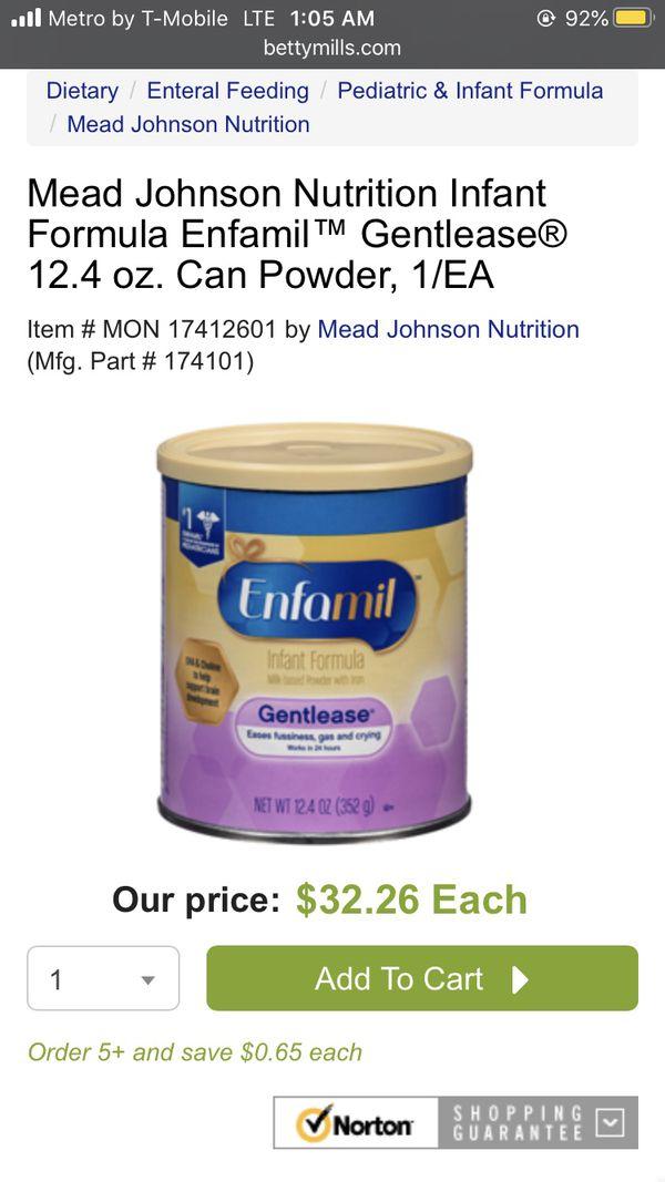2 cans of Gentlease enfamil 12.4 oz