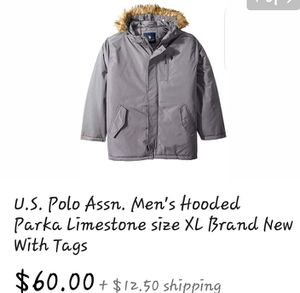 US polo assassin men's hooded parka limestone size extra large brand new with tags for Sale in Las Vegas, NV