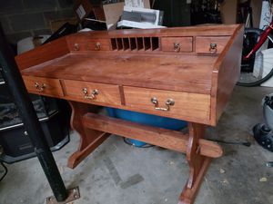 Hand carved farm wood vintage desk secretary for Sale in Smyrna, TN