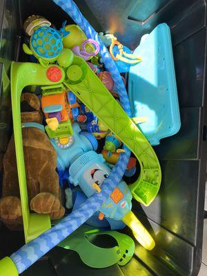 Tote of kids toys for Sale in Oak Glen, CA
