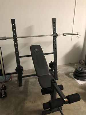 Olympic bench press with weight sets for Sale in West Palm Beach, FL