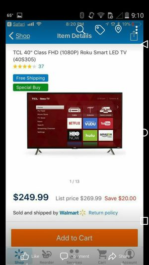 Ruku smart TV brand new 42 inch for Sale in Woodbridge, CA