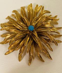 Vintage Large Gold Brooch for Sale in Austin,  TX