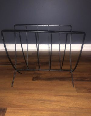 BLACK IRON MAGAZINE RACK for Sale in Marietta, GA