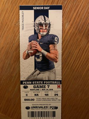 Penn state tickets row 45 seat 24 for Sale in State College, PA
