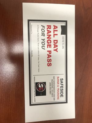 All day range pass to safe sidetactical in Roanoke for Sale in Roanoke, VA