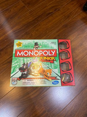 Monopoly Junior Board Game for Sale in Clackamas, OR