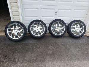Universal Rims w/Tires 245/45/18 for Sale in Manassas, VA
