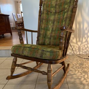 Cherry Wood Rocking Chair- Perfect Condition for Sale in Aurora, CO