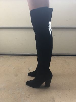 Aldo Suede Thigh-High Zip Boots for Sale in Chula Vista, CA