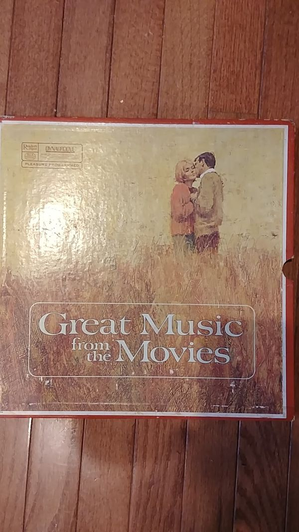 Reader's Digest Great Music from the Movies 4 Vinyl Record Set