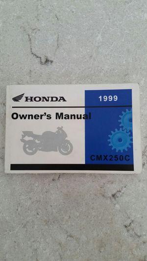 Honda cmx 250 motorcycle manual for Sale in Wilsonville, OR