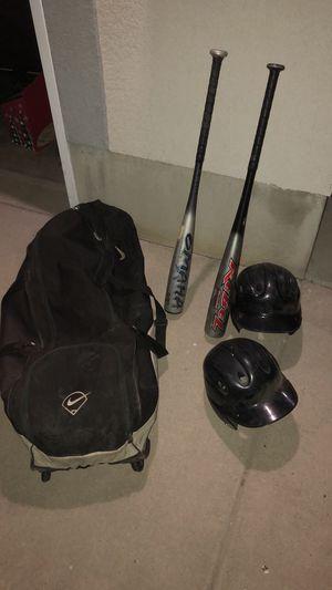 Baseball Gear, 2 Big Barrel Bats, 2 Helmets, Nike Bag for Sale in West Valley City, UT