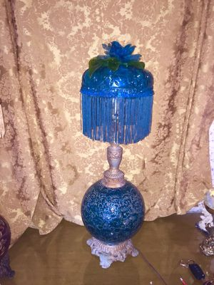 Turquoise bubble lamp for Sale in Grosse Pointe, MI