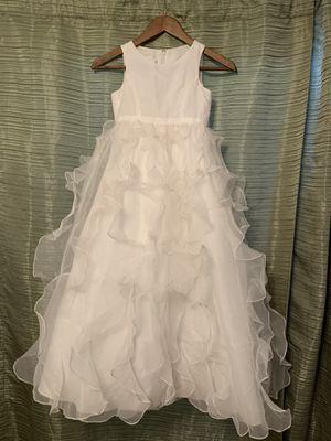 Girls size 7 soft white flower girl dress for Sale in PT CHARLOTTE, FL