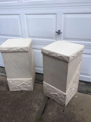 Stone - look fluted column pedestals for Sale in Tampa, FL