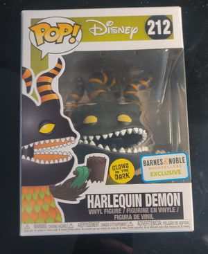 Funko pop Disney: Harlequin Demon - the nightmare before christmas Glows in the dark barns and nobel exclusive for Sale in Del Sur, CA