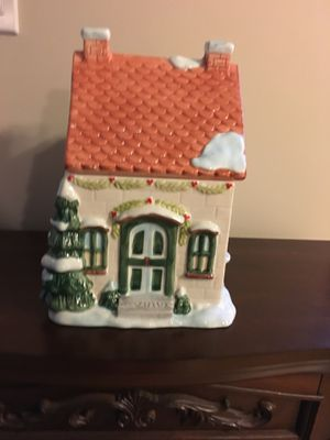 Christmas House Cookie Jar for Sale in North Smithfield, RI