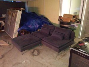 Couch and ottoman for Sale in Fresno, CA