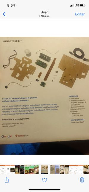 Google aiy vision kit for Sale in South El Monte, CA