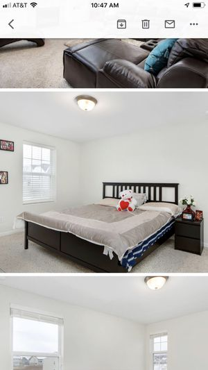 King bed frame with mattress for Sale in Orion charter Township, MI