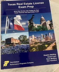 Texas Real Estate License Exam Prep for Sale in Humble,  TX