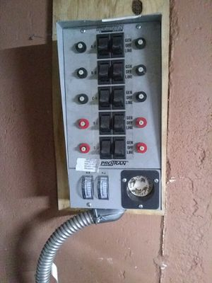 Transfer switch to power house using portable generator for Sale in Norwell, MA