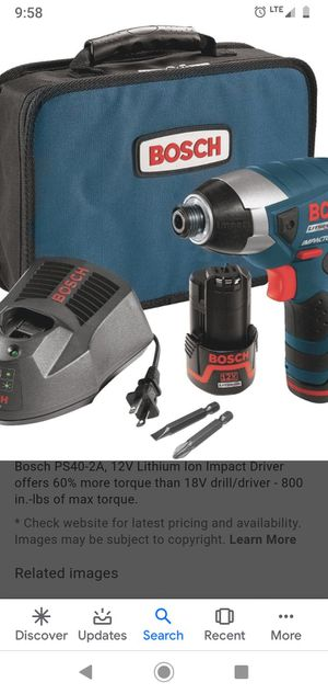 Bosch 12v impact for Sale in Collinsville, OK