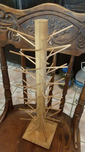 Thread wood wooden stand organizer rotating nice Easy Storage for Sale in Lakewood, CA