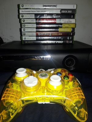 XBOX 360 ELITE CONSOLE, CONTROLLER, 8 GAMES for Sale in Phoenix, AZ