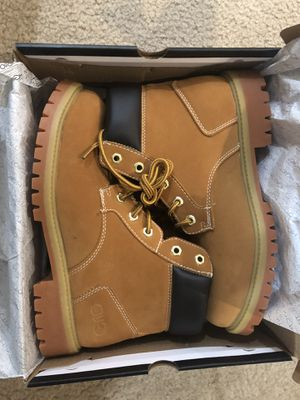 NEW IN BOX Leather Work Boots, Water Resistant for Sale in San Luis Obispo, CA