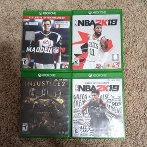 Madden 18, NBA2k 18/19, Injustice 2 Legendary Edition. for Sale in Winchester, CA