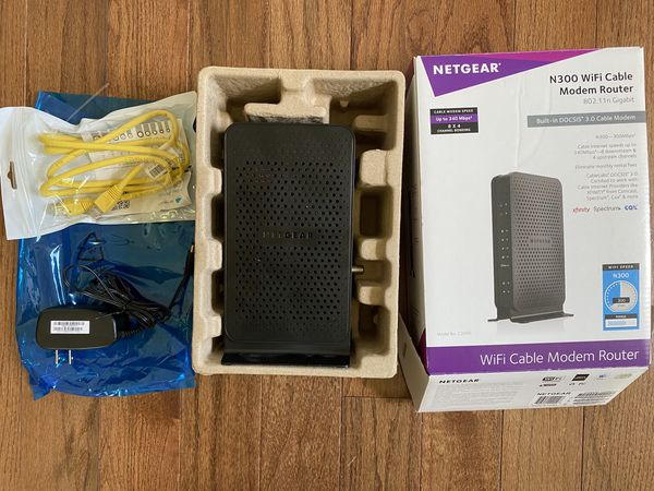 NETGEAR N 300 WIFI CABLE MODEM ROUTER
