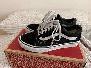 Vans Old Skool Black Shoes 7.5 WMN 6 MEN for Sale in Lynnwood, WA