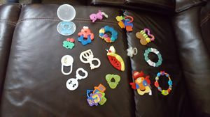 2 in 1 baby teethers/rattles/soft toys for Sale in Laurel, MD