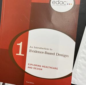 An Introduction to Evidence-Based Design: Exploring Healthcare and Design (EDAC Study Guides) by Eileen Malone for Sale in Alameda, CA