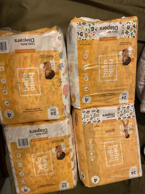 Hello hello size 4 diapers for Sale in Merced, CA
