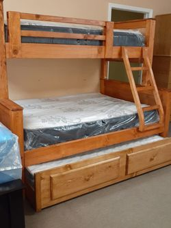 TWIN OVER FULL/FULL BUNK BED MATTRESSES INCLUDED for Sale in Los Angeles,  CA