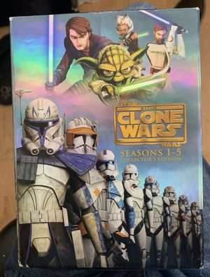 Star Wars the clone wars compete set on Blu-ray perfect condition just used once for Sale in National City, CA
