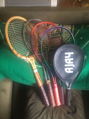 Lot of 5 Tennis / Racquetball Racquets / Rackets Wilson MacGregor Prince Ajay for Sale in Portland, OR