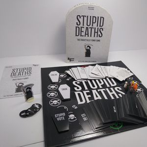 University Games Stupid Deaths The Party Game Funny Card and Board Game for Sale in Cleveland, OH