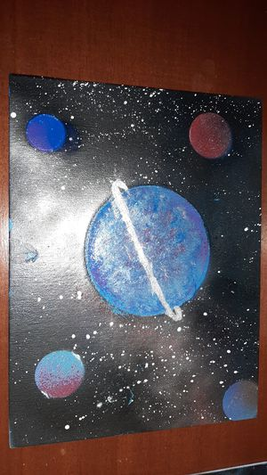 Galaxy spray painted canvas for Sale in Inwood, WV