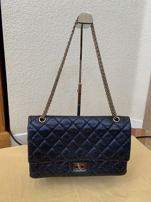Like new Authentic Chanel Blue Metalic Reissue flap bag for Sale in Dublin, CA