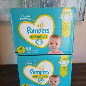 2 Boxes Of Pampers Swaddlers Diapers Size 4 for Sale in Bonita, CA