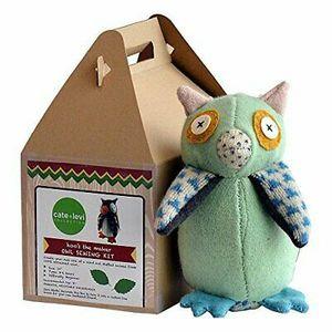 Cate and Levi 10″ Handmade Hoo's The Maker Owl Plush Stuffed Animal Making Kit (Premium Reclaimed Wool), Colors Will Vary for Sale in Virginia Beach, VA