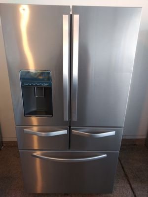 High-end stainless steel kitchen appliances French door refrigerator 5 door fridge stove microwave and dishwasher in excellent like new condition for Sale in Phoenix, AZ