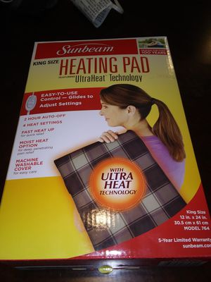 King size moist/dry heating pad for Sale in Greenwood, IN