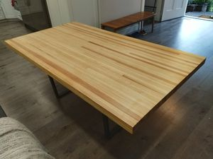 Dining table reclaimed bowling alley NEW!! Custom made for Sale in Kirkland, WA