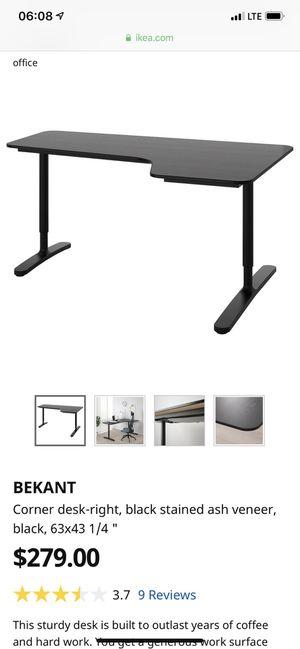 Corner Desk Black for Sale in San Diego, CA
